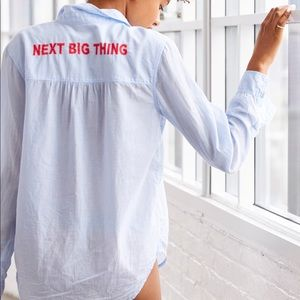 aerie Next Bing Thing Embroidered Shirt